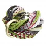 Braided Friendship Bracelet Bangle Fabric Cuff Jewelry Women Knot Tribal Wrap Arm Chunky Boho Stack Bangles Bracelets Green Black Burgundy