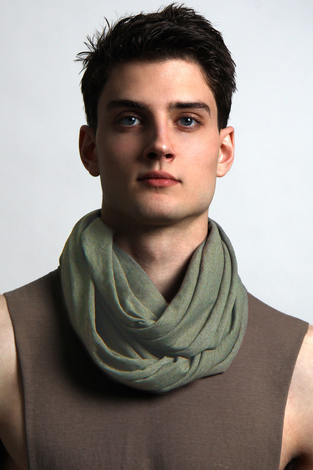Green Infinity Scarf - Green Circle Scarf - Sage Green - Mens ...