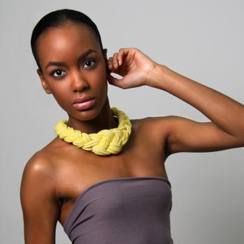 Collar Necklace Neon Fabric Jewelry Choker Braided Tribal African Yellow Neckpiece Braid Knotted Spring Fashion Jewelry