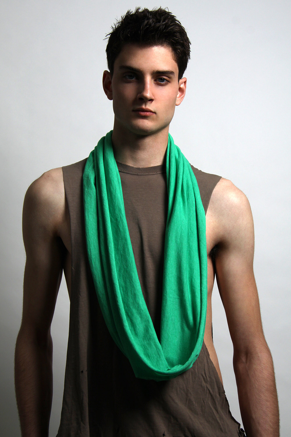 Green Circle Scarf Mens Scarf Green Spring Scarves Loop